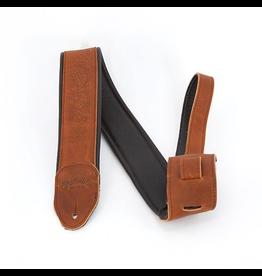 Martin - Embossed Garment Leather Guitar Strap, Brown