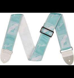 """Fender - 2"""" Monogrammed Strap, Daphne Blue"""