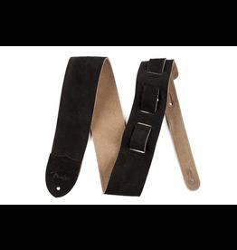 "Fender - 2.5"" Suede Strap, Black"
