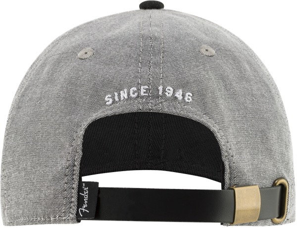Fender - Hipster Dad Hat, Gray and Black