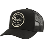 Fender - West Coast Trucker Hat, Black