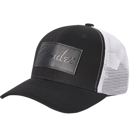 Fender -  Debossed Logo Adjustable Hat, Black and White