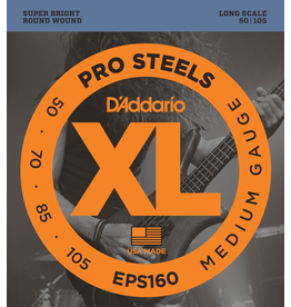 D'Addario - XL 4 String Bass, 50-105 Long Scale, Pro Steel