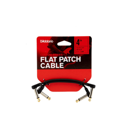 "Planet Waves - PW-FPRR-204 Right-Angle Flat Patch Cable, 4"" (2pk)"