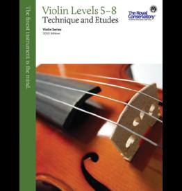 Frederick Harris - RCM Violin Series, 2013 edition, Violin Technique and Etudes 5 - 8