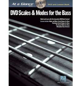 Hal Leonard - At a Glance Bass Series, Book/DVD Pack, Scales & Modes