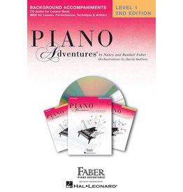 Hal Leonard - Piano Adventures Level 1 Lesson Book Background Accompaniments on CD.