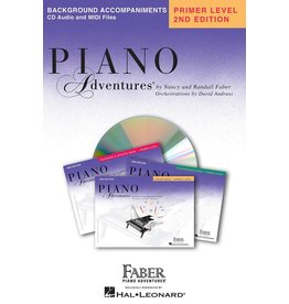 Hal Leonard - Piano Adventures Primer Level Lesson Book Background Accompaniments on CD.