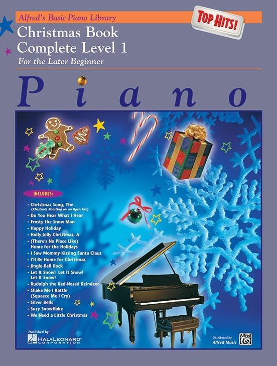 Alfred's Publishing - Basic Piano Course: Top Hits Christmas, Complete Level 1