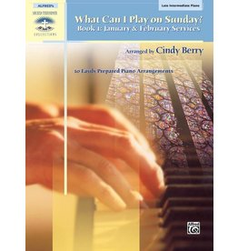Alfred's Publishing - Sacred Performer, What Can I Play Sunday, Book 1 (Late Intermediate)