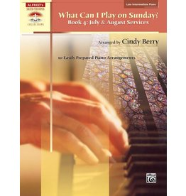 Alfred's Publishing - Sacred Performer, What Can I Play Sunday, Book 4 (Late Intermediate)