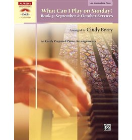 Alfred's Publishing - Sacred Performer, What Can I Play Sunday, Book 5 (Late Intermediate)