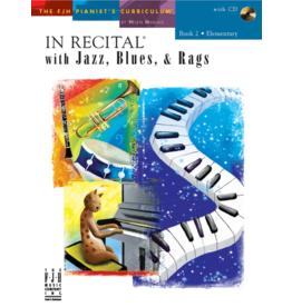- In Recital, Jazz Blues & Rags, Book 2 w/online audio