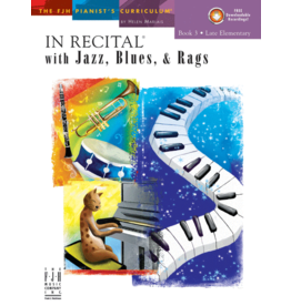 - In Recital, Jazz Blues & Rags, Book 3 w/online audio
