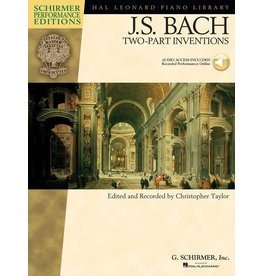 Hal Leonard - Schirmer Edition, Bach, Two-Part Inventions, Book & CD