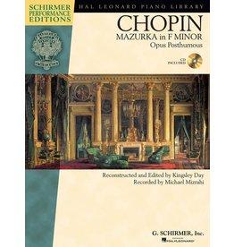 Hal Leonard - Schirmer Edition, Chopin, Mazurka in F Minor, Book & CD