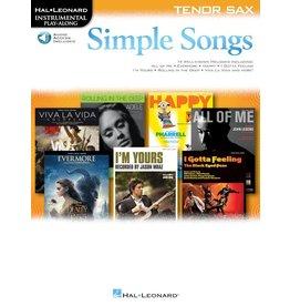 Hal Leonard - Simple Songs, Tenor Sax, w/online audio