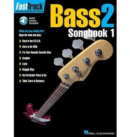 Hal Leonard - Fast Track: Bass 2, Songbook 1 w/CD