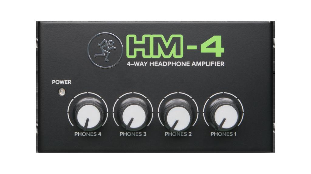 Mackie - 4-Way Headphone Amplifier, 1in/4 out