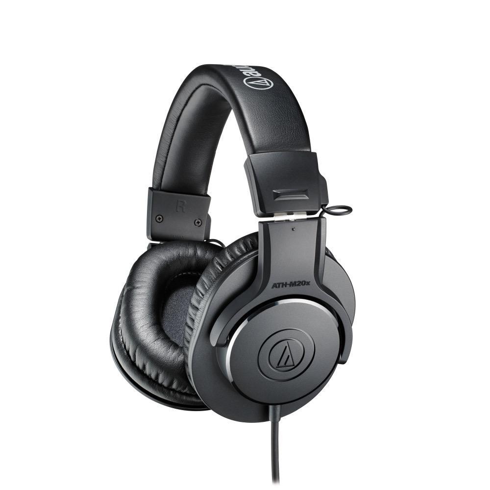 Audio Technica - AT2020 Studio Condenser Microphone, w/boom arm & ATH-M20X Headphones