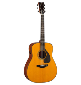 Yamaha - FGX5 Red Label Dreadnought Acoustic/Electric, Natural w/Case