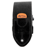 Martin - Woven Strap w/Leather Ends, Black