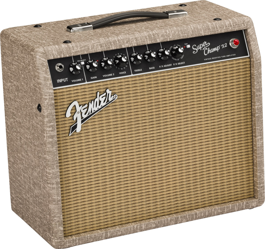 Fender - Limited Edition Super Champ X2 1x10 15watt Tube Combo Amp, Fawn