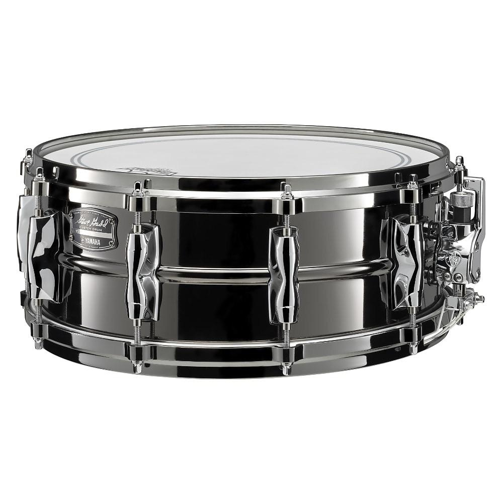 "Yamaha - YSS1455SG Steve Gadd Signature Steel Snare Drum, 14x5.5"", Black Nickel"