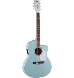 Cort - Jade Classic Acoustic Guitar, Pastel Blue Open Pore