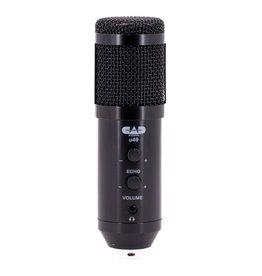 CAD - USB Side Address Studio Microphone, w/headphone output & echo
