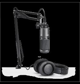 Audio Technica - AT2020 Studio USB Condenser Microphone, w/boom arm & ATH-M20X Headphones
