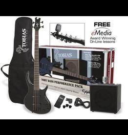 Epiphone Epiphone - Toby Standard IV Bass Performance Pack, Ebony