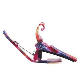 Kyser - Quick Change Capo, 6 String, Tie Dye