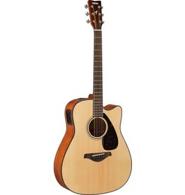 Yamaha - FGX800C Acoustic Electric, Solid Top, Natural