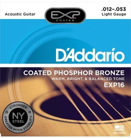 D'Addario - EXP16 Coated Phospher Bronze Acoustic Strings, Light