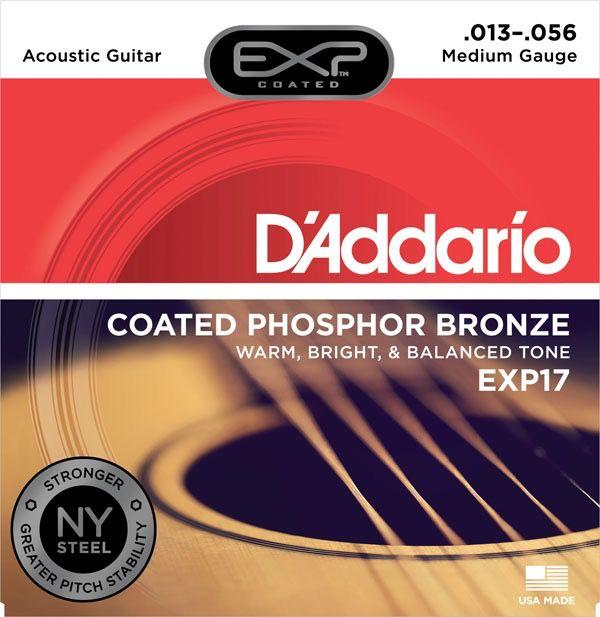 D'Addario - EXP17 Coated Phospher Bronze Acoustic Strings, Medium
