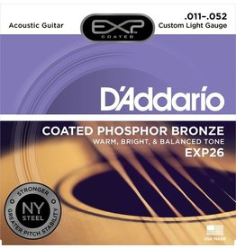 D'Addario - EXP26 Coated Phospher Bronze Acoustic Strings, Custom Light