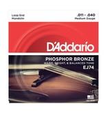 D'Addario - EJ74 Phospher Bronze, 11-48 Mandolin