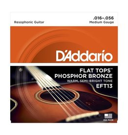 D'Addario - EFT13 Flat Tops, Resophonic Guitar Strings