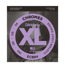 D'Addario - ECB84 Flat Wound Chromes, .040 - 100<br />- Flat Wound Chromes, 040-100