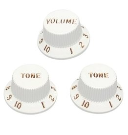 Fender - Strat Knobs, White (3 Pack)