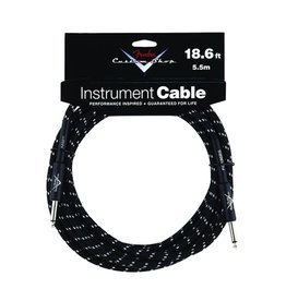 Fender - Custom Shop 18.6' Instrument Cable, Black Tweed