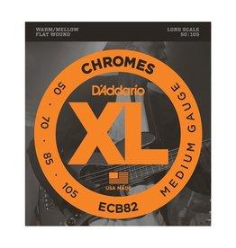 D'Addario - XL 4 String Bass 50-105, Chrome Flatwound