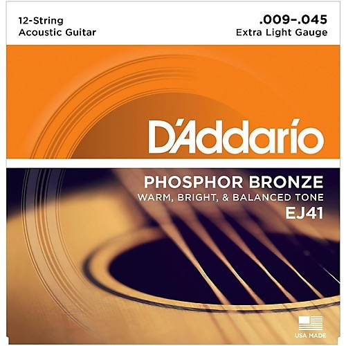 D'Addario - EJ41 Phosphor Bronze 12 String, 09-45 Extra Light