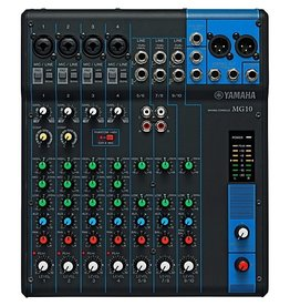 Yamaha - 10 Channel Mini Mixer, 4 XLR inputs, 3 stereo channels
