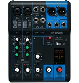 Yamaha - MG06 - 6 Channel Mini Mixer