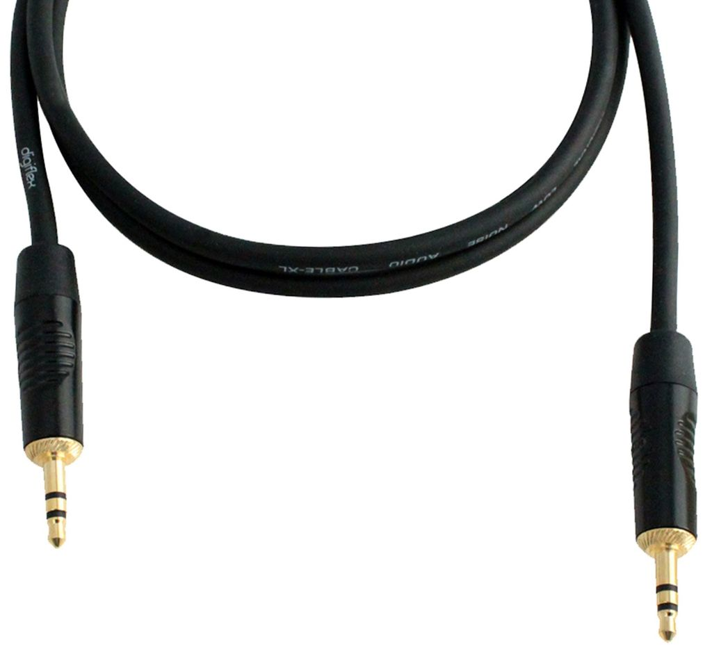 Digiflex - 1/8 TRS to 1/8 TRS Mini Plugs Cable, 15'
