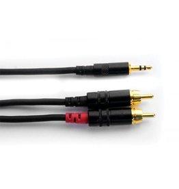 "Digiflex - 1/8"" Stereo to Dual RCA, 15'"