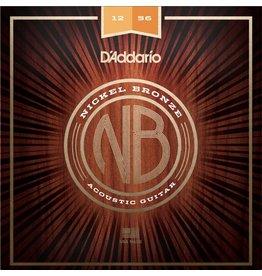 D'Addario - Nickel Bronze Acoustic Strings, 12-56 Light/Medium