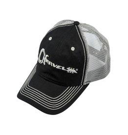 - Black & Ivory Trucker Hat w/White Charvel Logo